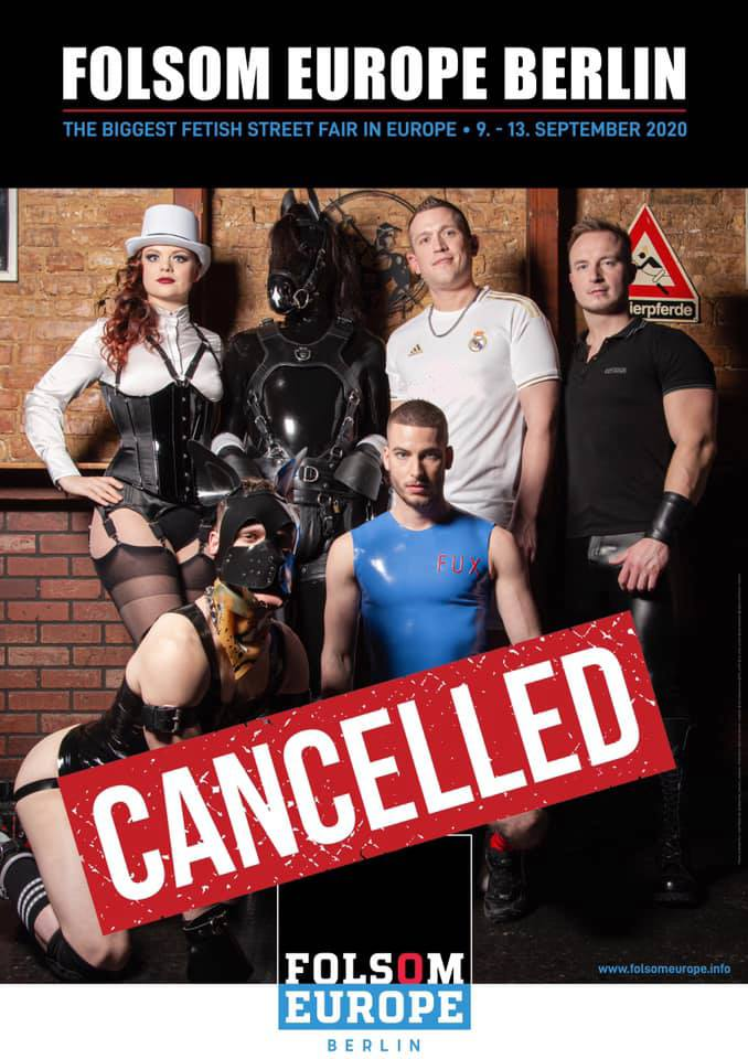 FOLSOM EUROPE 2020 CANCELLED!